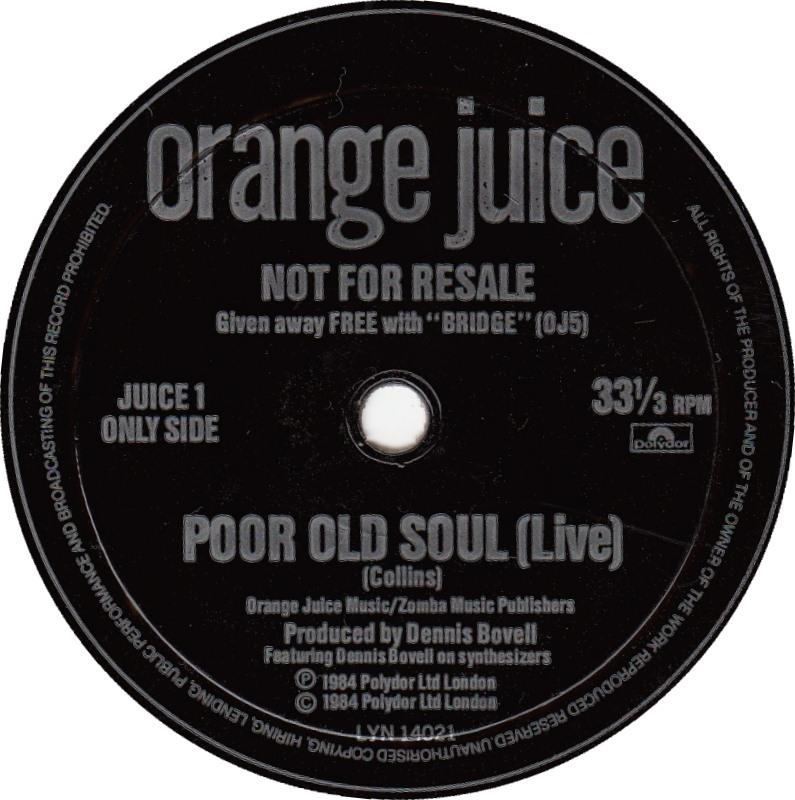 Orange Juice Poor Old Soul Orange-juice-poor-old-soul