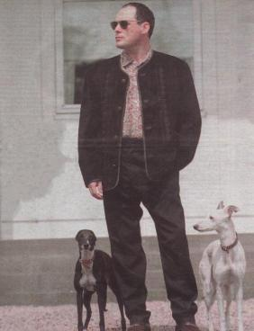 Billy with his whippetts
