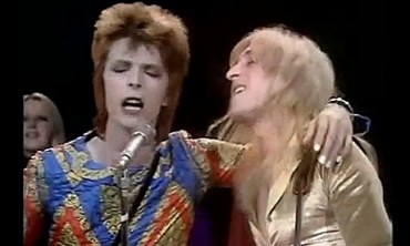 David Bowie and Mick Ronson's infamous Starman performance.